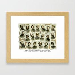 Confederate Commanders of The Civil War Framed Art Print