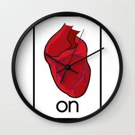 heart on Wall Clock