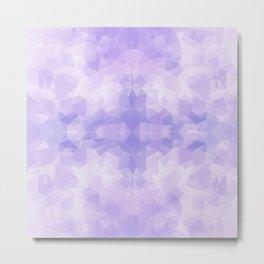 Light purple geometric design Metal Print