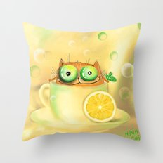 lemon tea  Throw Pillow