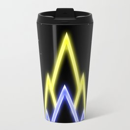 Neon Red Moon Travel Mug