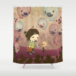 Balloon Tree Song Shower Curtain