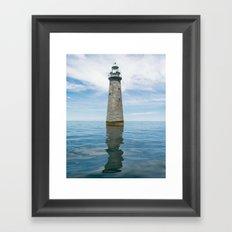 Minot Lighthouse (aka....Lover's Light) Framed Art Print