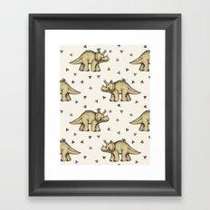 Triceratops & Triangles Framed Art Print