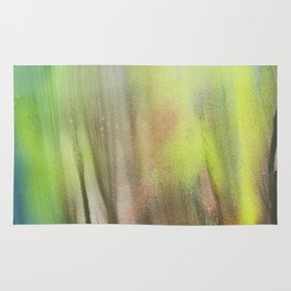 Waterfall of colors - abstract landscape watercolor Rug