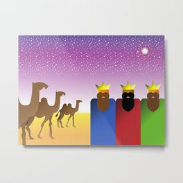 Three Kings Night Metal Print