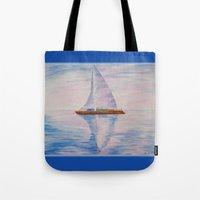 serenity Tote Bags featuring Serenity by Ana Lillith Bar