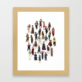 Every Clara Outfit Ever   S7 Framed Art Print