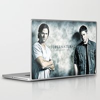 dean winchester Laptop & iPad Skins featuring Supernatural - Sam & Dean Winchester by ElvisTR