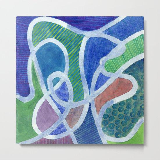 Curved Paths Metal Print