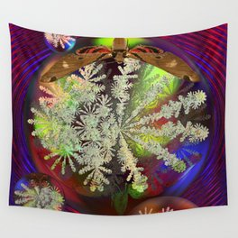Butterfly and the Snowflake Wall Tapestry