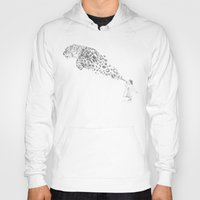 breaking Hoodies featuring Bubbles the Snow Leopard by Darel Seow