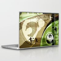 soccer Laptop & iPad Skins featuring Soccer by Robin Curtiss