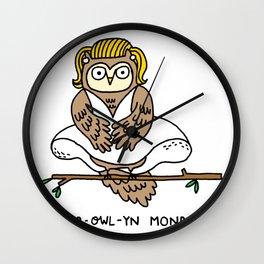 Mar-owl-yn Monroe Wall Clock