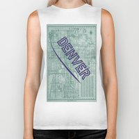denver Biker Tanks featuring Denver by Dweezle