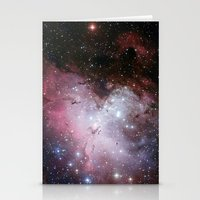 nasa Stationery Cards featuring Nebula star Eagle constellation galaxy hipster NASA space stars hipster geek sci fi landscape photo by iGallery