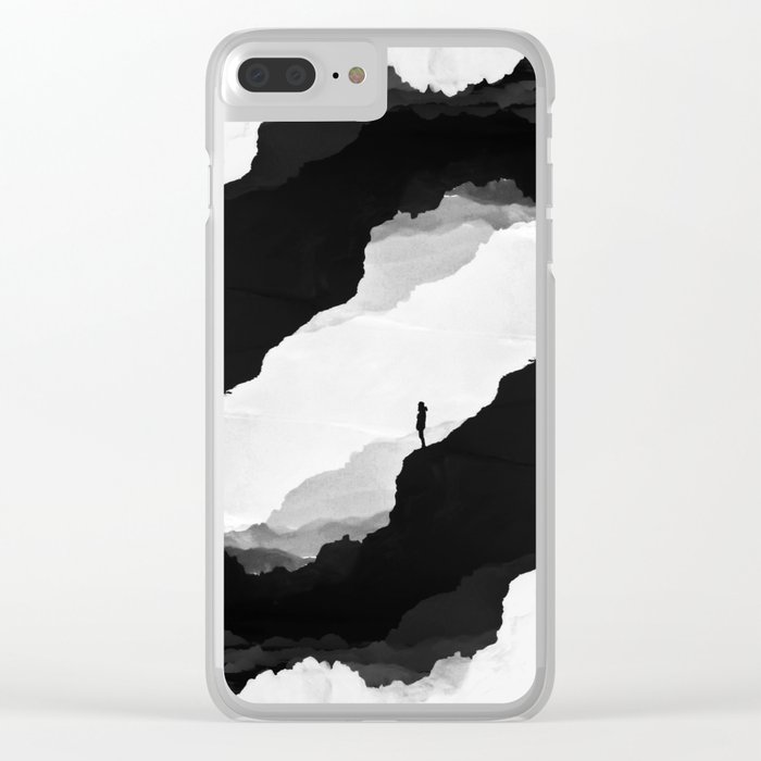 White Isolation Clear iPhone Case