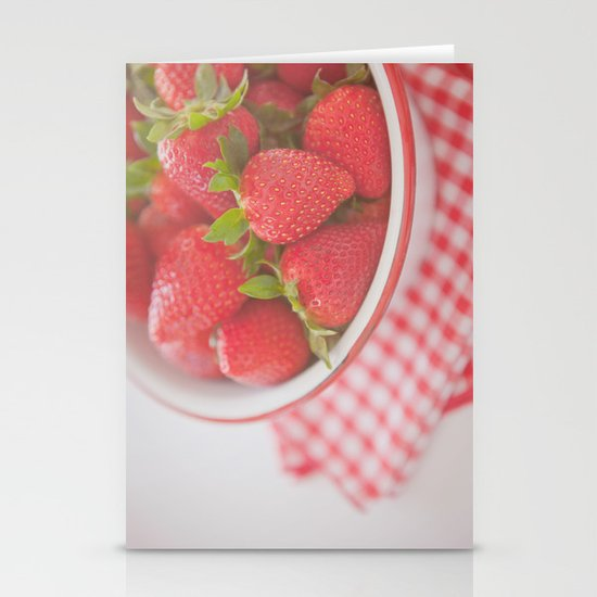 Starwberries Stationery Cards