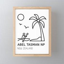 Abel Tasman National Park New Zealand Framed Mini Art Print