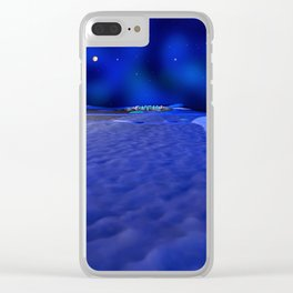 Mission to the Frozen Moon Clear iPhone Case