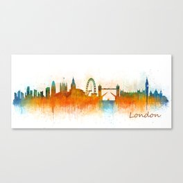 London City Skyline HQ v3 Canvas Print