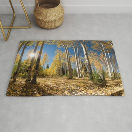 Crested Butte Colorado Fall Colors Panorama - 3 by OLena Art Rug