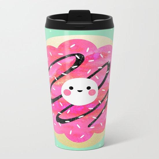 Little Cookie / Turquoise Metal Travel Mug