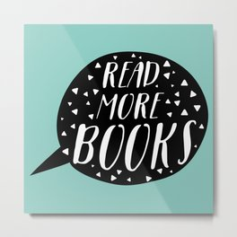 Read More Books (Speech Bubble - Blue) Metal Print