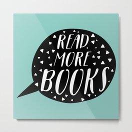 Read More Books (Speech Bubble - Blue) Metal Print