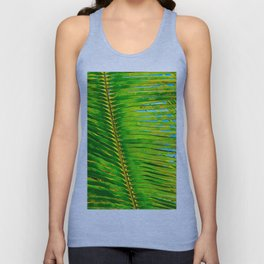 Coconut Frond in Green Aloha Unisex Tank Top
