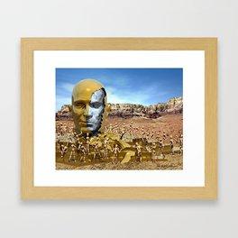 Broken Hero Framed Art Print