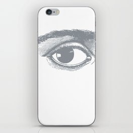 I see you. Gray on White iPhone Skin