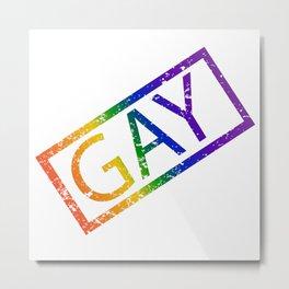Gay Stamp Metal Print