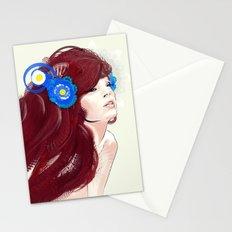 Blue flower. Stationery Cards