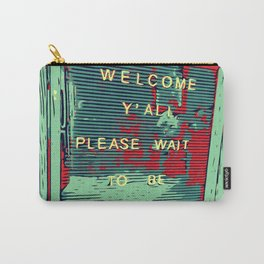 Welcome Y'all - Vector Design Image Carry-All Pouch