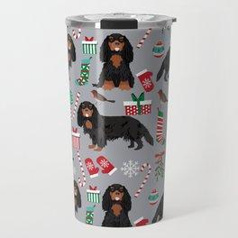 Cavalier King Charles Spaniel black and tan christmas dog gifts pet friendly Travel Mug