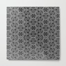 Black and white stars and squiggles 5015 Metal Print