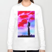 astrology Long Sleeve T-shirts featuring The Astrology  sign VIRGO by Krista May