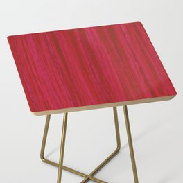 Strawberry Colored Vertical Stripes Side Table
