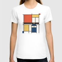 mondrian T-shirts featuring Mondrian Who by Perdita