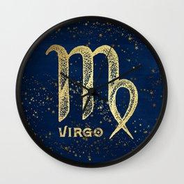 Virgo Zodiac Sign Wall Clock