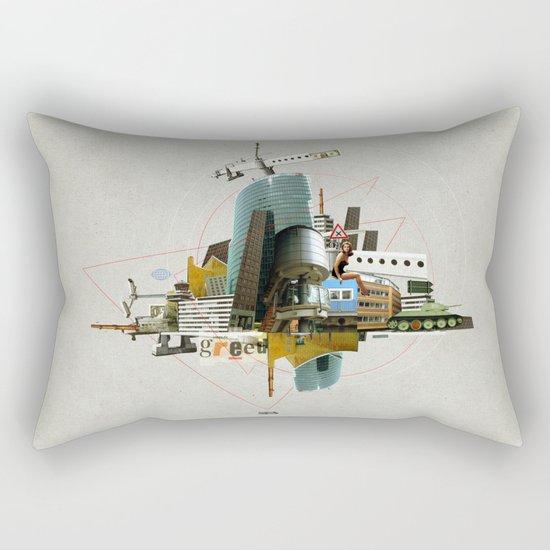 Collage City Mix 3 Rectangular Pillow