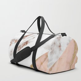 Marble rose gold blended Duffle Bag