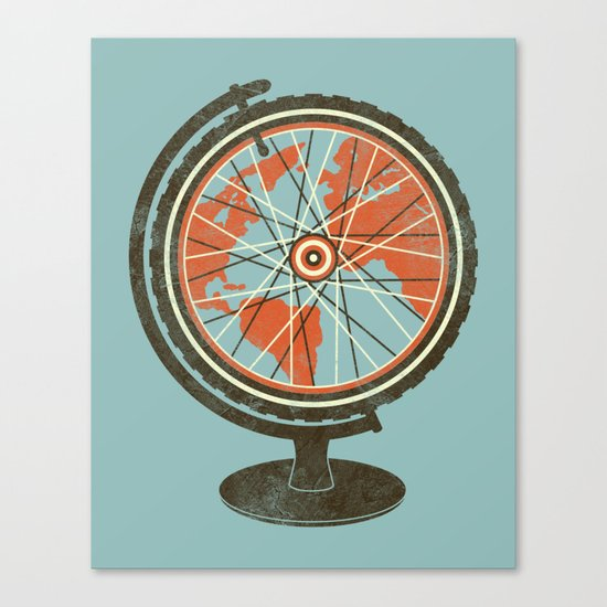 Cycling Around The World Canvas Print