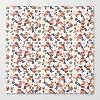 turtles Canvas Prints featuring Turtles by luizavictoryaPatterns