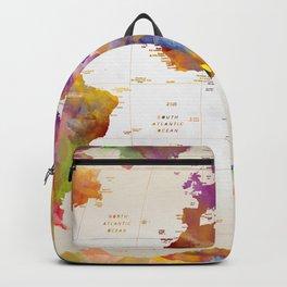 world map vintage  Backpack