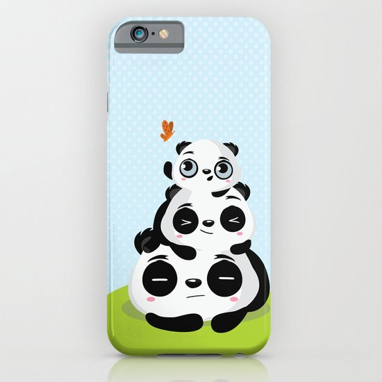 Panda family iPhone & iPod Case