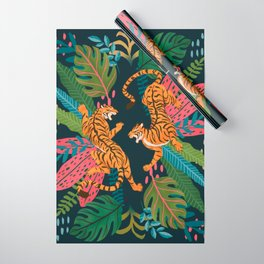 Jungle Cats - Roaring Tigers Wrapping Paper