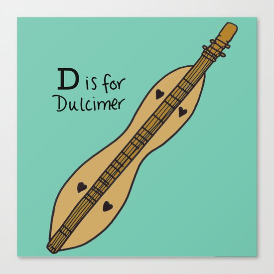 D is for Dulcimer Canvas Print