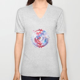 Stay with me between the Clouds and your Dreams Unisex V-Neck